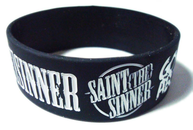A. Saint The Sinner wristbands by www.promo-bands.co.uk