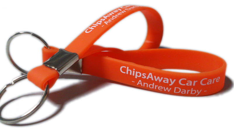Chipsaway Keyrings - www.Promo-Bands.co.uk