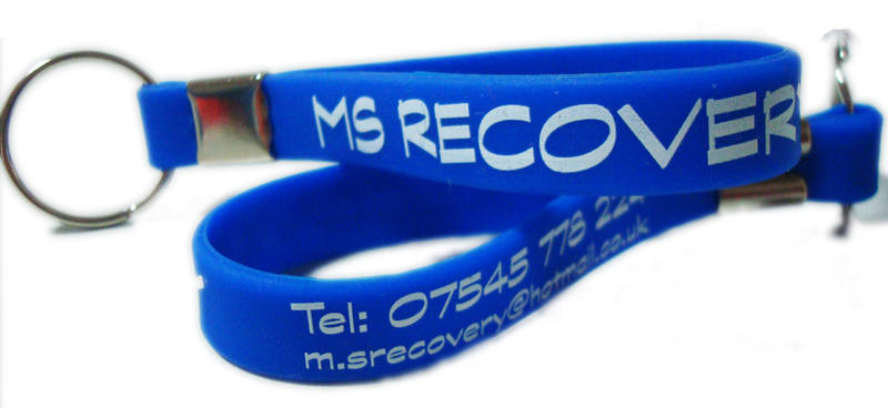 M S RECOVERY KEYRINGS - WWW.PROMO-BANDS.CO.UK