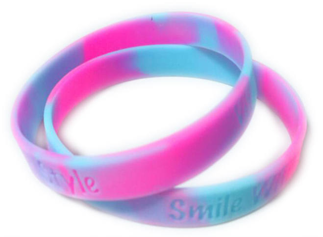 Swirl wristbands - www.Promo-Bands.co.uk