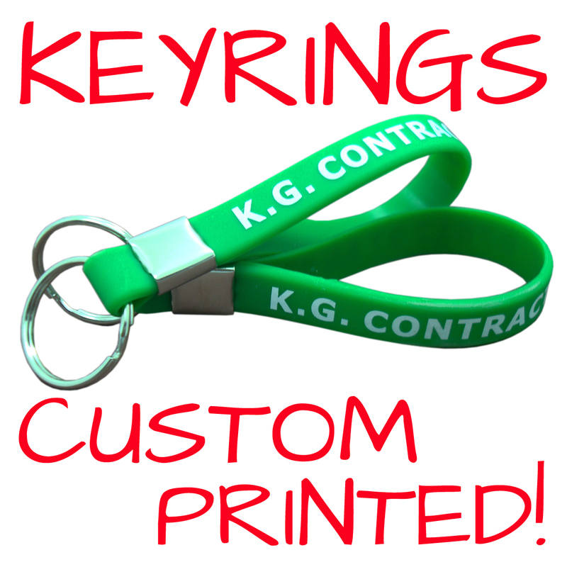 SILICONE KEYRINGS WWW.PROMO-BANDS.CO.UK