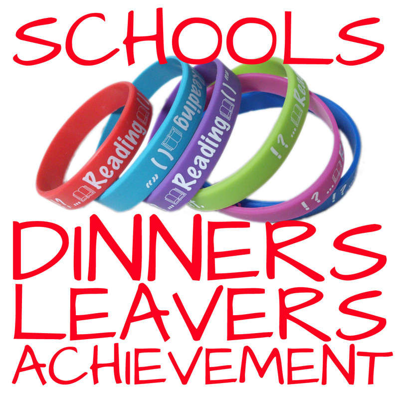 SCHOOL DINNER WRISTBANDS WWW.PROMO-BANDS.CO.UK