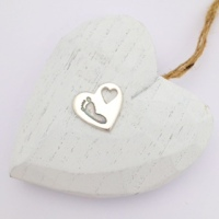 Heart imprint pendant