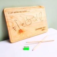I can write my name solid wood chopping board