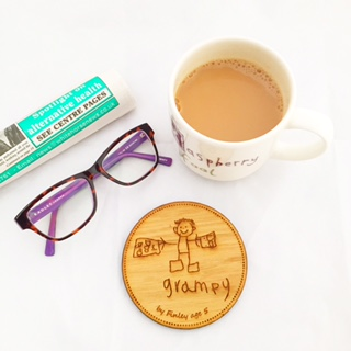 Little artists solid oak coaster