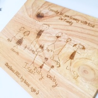 Little artists solid wood chopping board