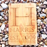 Family name solid wood chopping board