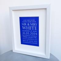 Wedding keepsake print