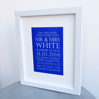 Wedding keepsake print