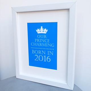 Born in...Prince Charming print