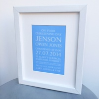 Christening/Naming Day keepsake print