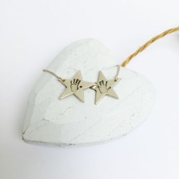 Double star imprint necklace