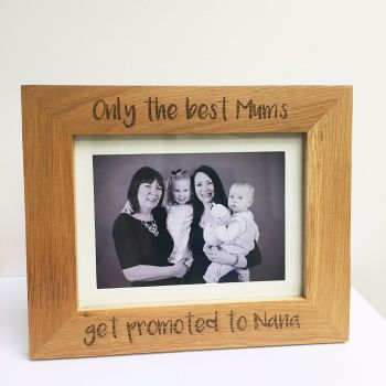 Personalised Only the best Mums solid oak engraved photo frame
