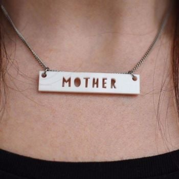 Acrylic MOTHER necklace