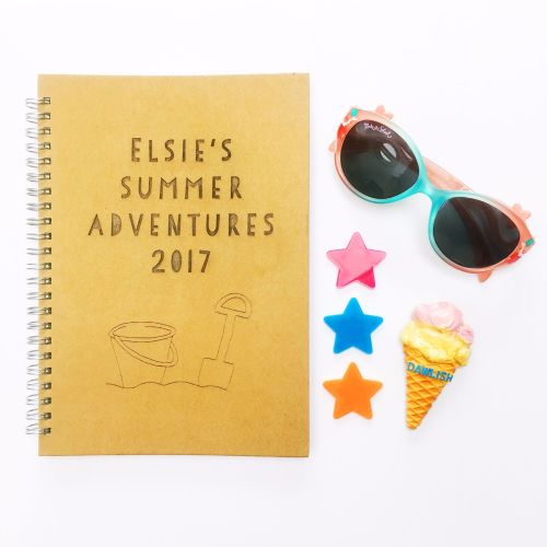 Personalised summer adventures notebook