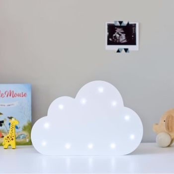 Wooden light-up cloud