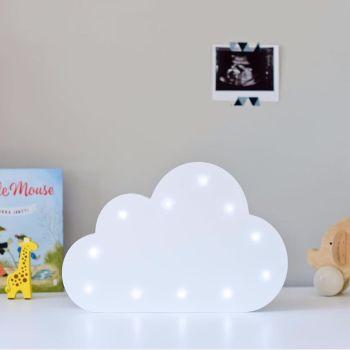 Wooden light-up cloud