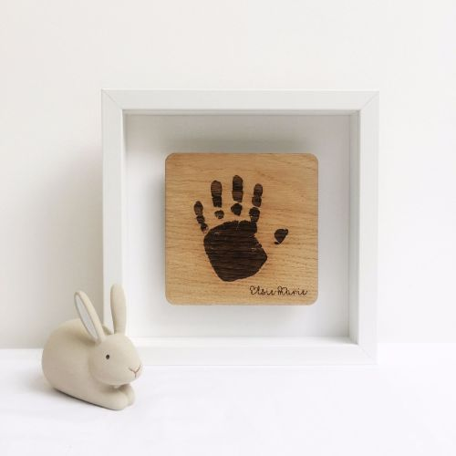 Personalised floating oak imprint frame