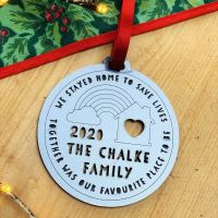 2020 personalised family tree decoration
