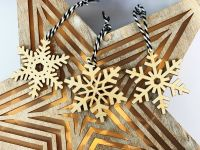 Set of three snowflake Christmas decorations