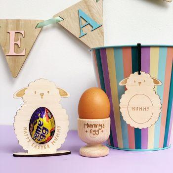 Easter bundle - egg holder, hanging decoration and egg cup