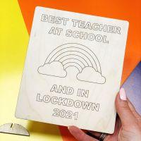 Colour your own Best Teacher card