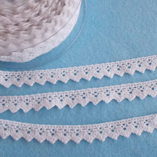 Cotton Lace - 15mm Wide White