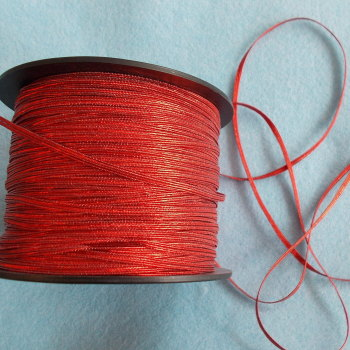 Elasticated Ribbon 2.5mm Wide - Red