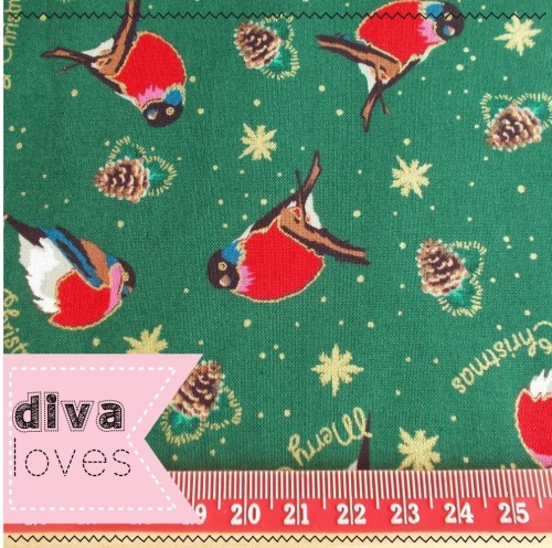 christmas robin fabric diva crafts diva loves week 141