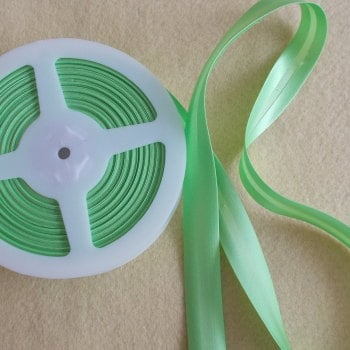 Satin Bias Binding 19mm Wide - Light Apple Green