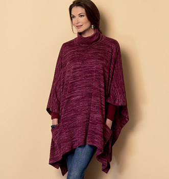 Butterick 6252 Poncho Sewing Pattern Sizes XS-S-MED