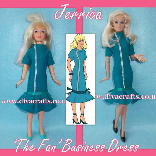 jerrica the fan business dress fashion jem doll clothes cazjar