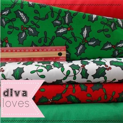 christmas fat quarter polyctton fabric bundle diva crafts diva loves week 1