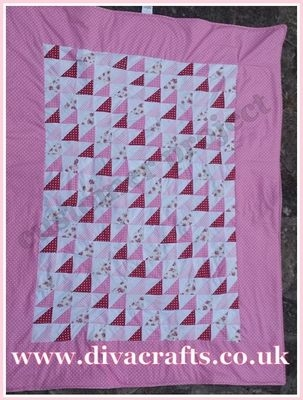 customer project pink patchwork quilt by tabby diva crafts