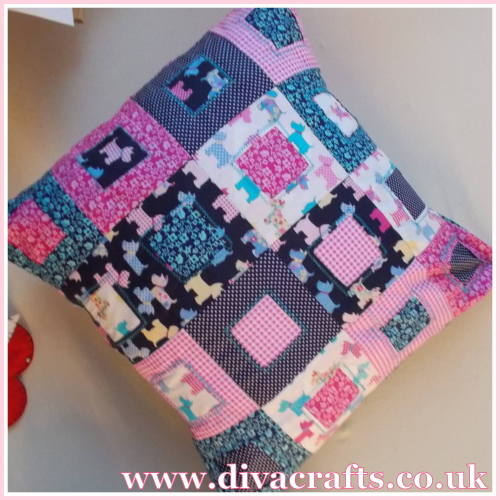 patchwork cushion diva crafts