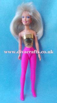 Handmade by Cazjar JEM Hasbro Sized Tights - Hot Pink Lycra