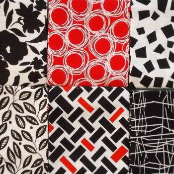 Fat Quarter Bundle - Red White & Black Mix