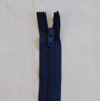 12 Inch Zip Nylon - 017 Navy Blue