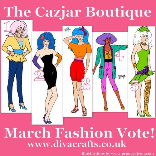 March Jem Fashion Voting Cazjar Diva Crafts