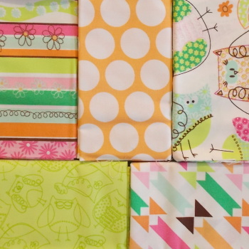 Fat Quarter Bundle - Owl & Spots