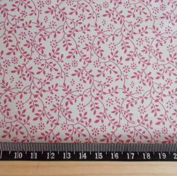 Vined Leaf 100% Cotton Fabric - Pink