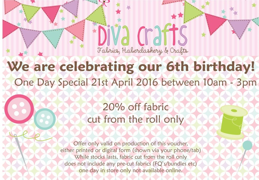 diva birthday discount voucher