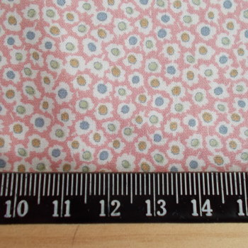Mini Flowers on Pink 100% Cotton Fabric