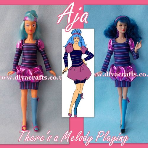 aja theres a melody playing outfit fashion jem doll clothes cazjar