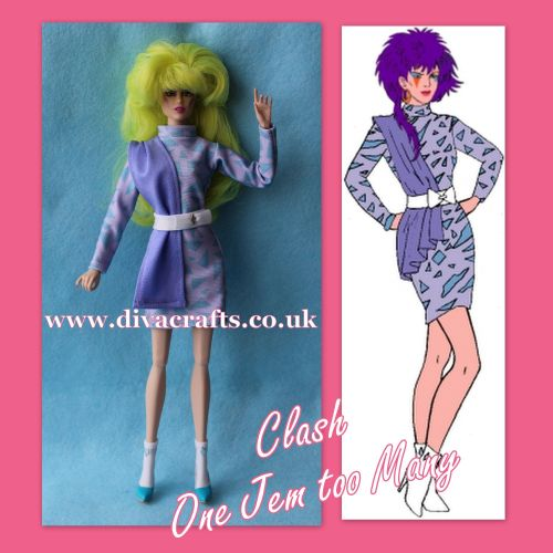 clash one jem too many integrity outfit jem doll clothes cazjar