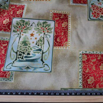 Art Nouveau Christmas 100% Cotton Fabric