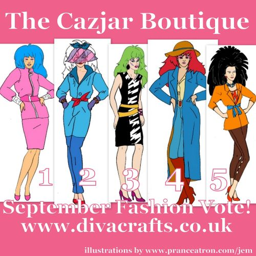 jem fashion voting cazjar diva crafts september