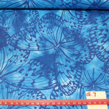 Fabric Freedom Watercolour butterflies - Blue