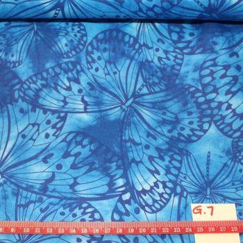 Fabric Freedom Watercolour butterflies - Blue