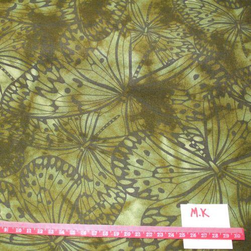 Fabric Freedom Watercolour butterflies - Green